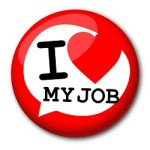 "Badge ""I love my job"""